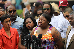 June 16, 2017 - St. Paul, Minnesota, U.S. -  ALLYSZA CASTILE, sister of Philando Castile, cries as she spoke about her reaction to a not guity verdict for Officer Jeronimo Yanez at the Ramsey County Courthouse. (Credit Image: © Renee Jones Schneider/Minneapolis Star Tribune via ZUMA Wire)