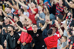 December 15, 2018 - Sydney, NSW, U.S. - SYDNEY, NSW - DECEMBER 15: Western Sydney Wanderers fans at the Hyundai A-League Round 8 soccer match between Western Sydney Wanderers FC and Sydney FC at ANZ Stadium in NSW, Australia on December 15, 2018. (Photo by Speed Media/Icon Sportswire) (Credit Image: © Speed Media/Icon SMI via ZUMA Press)