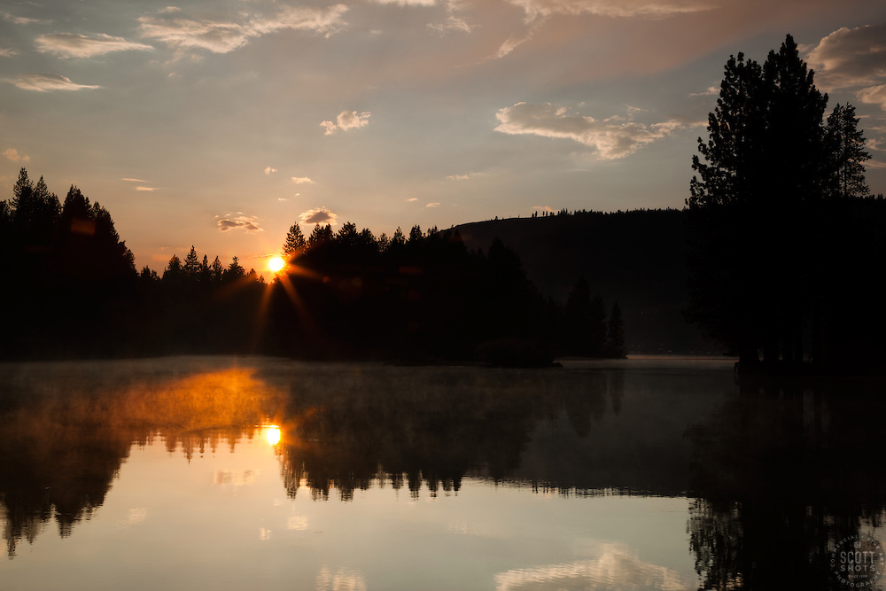 """""""Donner Lake Sunset 10"""" - This sunset was photographed at the East end of Donner Lake, Truckee."""