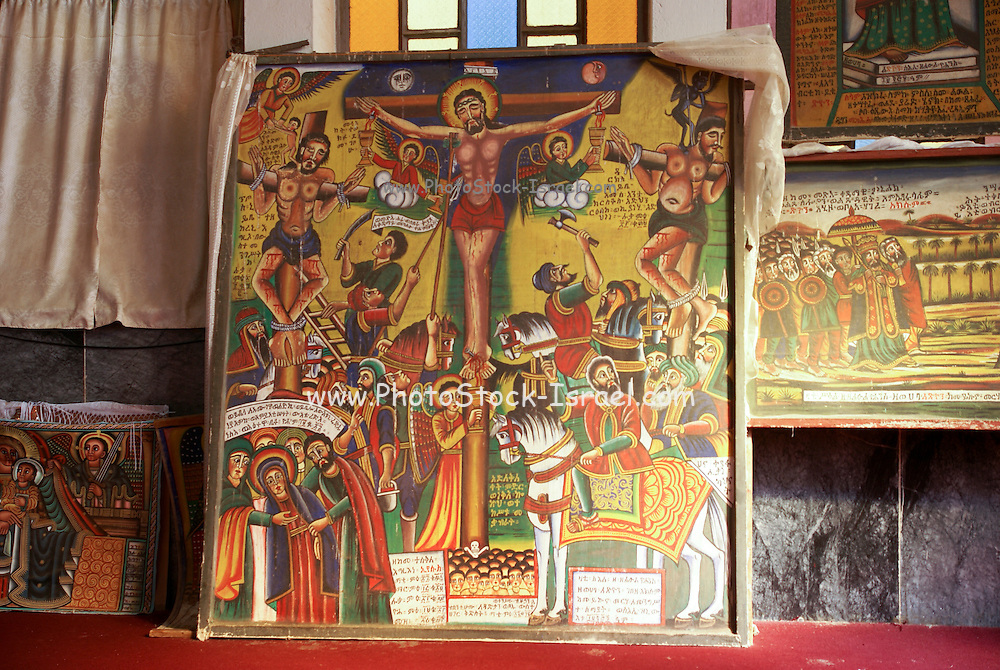 Africa, Ethiopia, Axum, The Church of Our Lady Mary of Zion said to houses the Biblical Ark of the Covenant. 100 year old Manuscript known as 'The Miracle of St Mary'