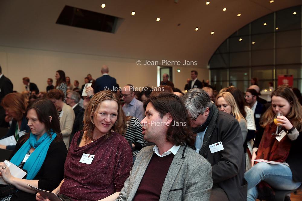 Nederland, Amsterdam , 26 maart 2015.<br />  Buzzcapture en ANP organiseren samen Buzz15. Hét jaarlijkse evenement voor klanten en prospects: marketing-communicatie managers, woordvoerders, corporate communicatie managers en CEO's in de Hermitage.<br /> Op de foto:: Welkom met Lars Sorenson<br /> Foto:ANPinOpdracht/Jean-Pierre Jans