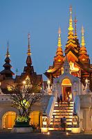 Mandarin Oriental Dhara Dhevi Hotel lobby entrance, Chiang Mai, Thailand.