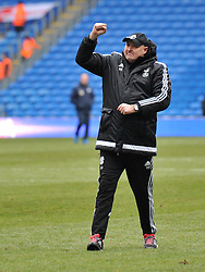Cardiff City Manager Russell Slade celebrates his home win against Preston North End - Mandatory by-line: Paul Knight/JMP - Mobile: 07966 386802 - 27/02/2016 -  FOOTBALL - Cardiff City Stadium - Cardiff, Wales -  Cardiff City v Preston North End - Sky Bet Championship