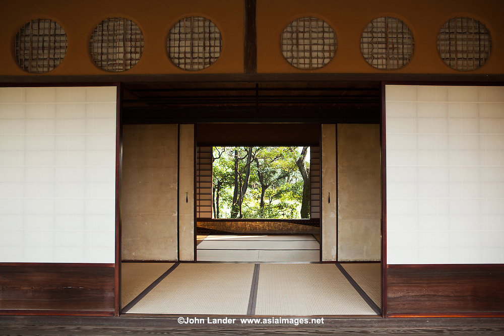 The Katsura Imperial Villa or Katsura Rikyu as it is known in Japanese is a villa in the western suburbs of Kyoto. It is one of Japan's most important large-scale cultural treasures. Its gardens are a masterpiece of Japanese gardening, and the buildings perfect examples of Japanese architecture at its best. The Katsura Imperial Villa is a good example of the essence of Japanese traditional design. The Villa combines principles usually used in early Shinto shrines and merges it with the esthetics and philosophy of Zen Buddhism. It provides an invaluable window into the villas of princes of the Edo period. The palace formerly belonged to the prince of the Hachij-no-miya family. The Imperial Household Agency now maintains and administers.