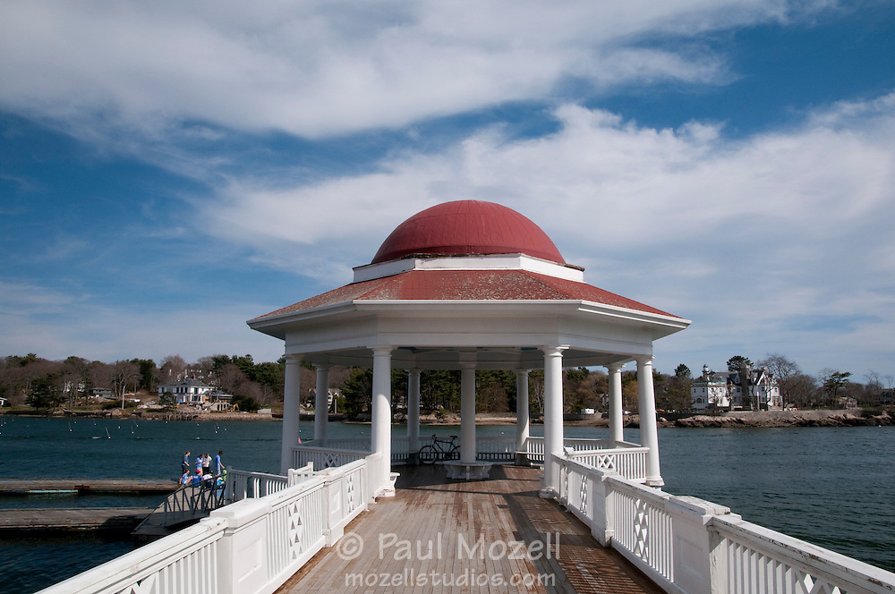 The Tucks Point Rotunda is the centerpiece of the harbor in Manchester-by-the-Sea, Massachusetts