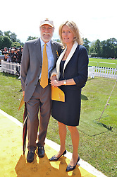 VISCOUNT & VISCOUNTESS COWDRAY at the 2012 Veuve Clicquot Gold Cup Final at Cowdray Park, Midhurst, West Sussex on 15th July 2012.