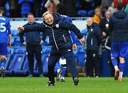 Cardiff City manager Neil Warnock celebrates at the full time whistle- Mandatory by-line: Nizaam Jones/JMP - 17/02/2018 -  FOOTBALL - Cardiff City Stadium - Cardiff, Wales -  Cardiff City v Middlesbrough - Sky Bet Championship