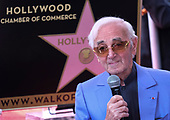 Charles Aznavour honored with a Star on the Hollywood Walk of Fame