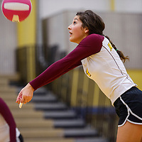 110414       Cable Hoover<br /> <br /> Rehoboth Lynx Sidni Brown (4) bumps up a serve from the Tohatchi Cougars Tuesday at Rehoboth High School.