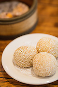 Dim Sum rolls filled with red bean is photographed at Great Mall Mayflower Restaurant in Milpitas, California, on September 11, 2014. (Stan Olszewski/SOSKIphoto)