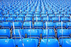 Flags are provided for each seat ahead of the match - Mandatory byline: Matt McNulty/JMP - 07966386802 - 12/04/2016 - FOOTBALL - Etihad Stadium -Manchester,England - Manchester City v Paris Saint-Germain - UEFA Champions League - Quarter Final Second Leg