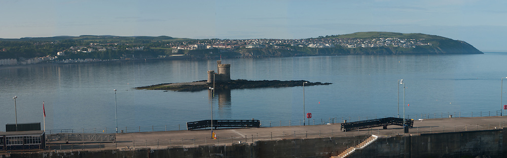 St Mary's Isle (also known as Conister Rock or, colloquially, the Tower of Refuge) in Douglas Bay, Isle of Man