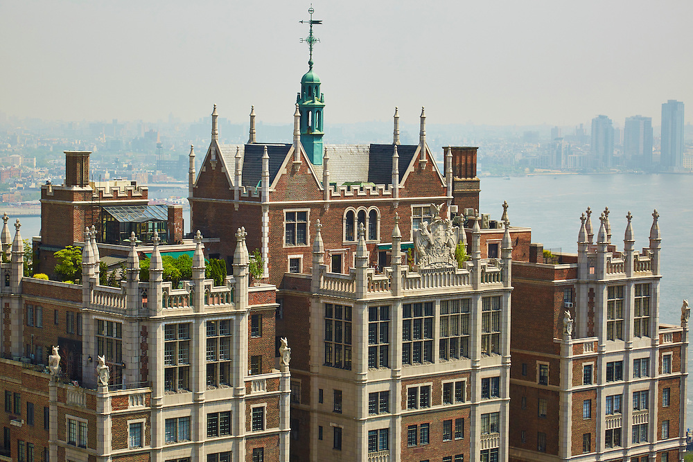 View of 5 Tudor City Place and the East River from 320 East 42nd Street, 30th floor