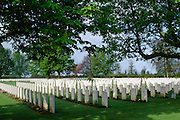 Commonwealth war graves from World War II at cemetery in Normandy, France