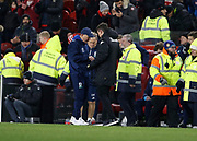 Tony Pulis Manager of Middlesbrough and Paul Heckingbottom Head Coach of Leeds United shake hands at full time during the EFL Sky Bet Championship match between Middlesbrough and Leeds United at the Riverside Stadium, Middlesbrough, England on 2 March 2018. Picture by Paul Thompson.