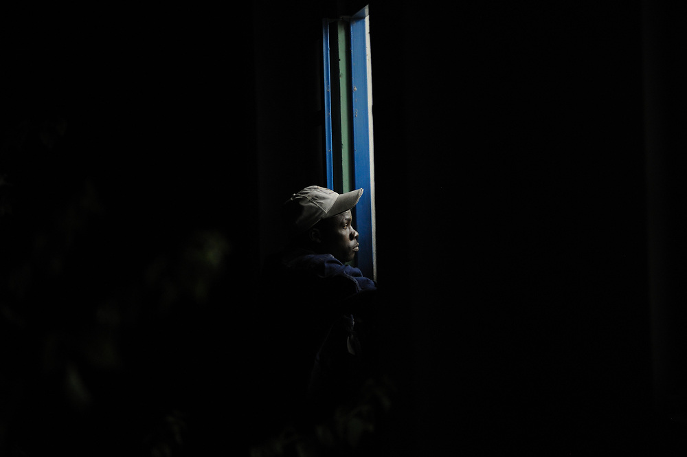 An election observer watches the counting of the referendum votes for independence of South Sudan.