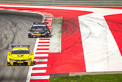 03.08.2014, Red Bull Ring, Spielberg, AUT, DTM Red Bull Ring, Renntag, im Bild Timo Glock, (GER, 3. Platz, Rennen, Deutsche Post BMW M4 DTM), Pascal Wehrlein, (GER, gooix Mercedes AMG C-Coupe) // during the DTM Championships 2014 at the Red Bull Ring in Spielberg, Austria, 2014/08/03, EXPA Pictures © 2014, PhotoCredit: EXPA/ M.Kuhnke