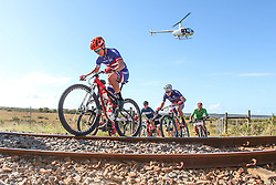 Dylan Rebello and Chris Wolhuter, of Imbuko Freewheel Cycology Momsen lead a chase group during Stage 1 of the Cape Pioneer Trek, on 17th of October 2016<br /> <br /> <br /> Photo by: Oakpics/Cape Pioneer Trek/SPORTZPICS<br /> <br /> <br /> {dem16gst}