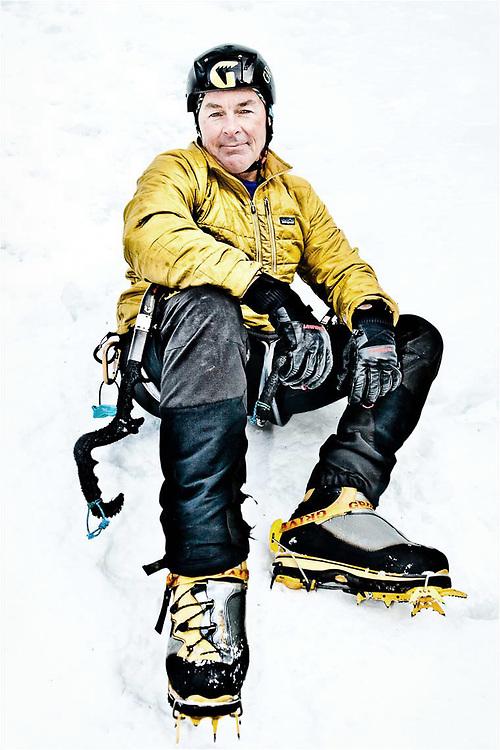 AMERICAN ICE CLIMBER   HYALITE CANYON   MONTANA