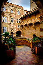 The Société Archéologique du Midi de la France - The courtyard of the Archaeological Museum in Toulouse, France<br /> <br /> (c) Andrew Wilson | Edinburgh Elite media