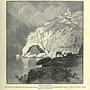 "RAS EN NAKURAH. [Rosh Hanikra] The road over this headland, which has also been called the "" Ladder of Tyre,"" has lately been greatly improved. South of it there is a spring called 'Ain el Musheirifeh. Wood engraving of from 'Picturesque Palestine, Sinai and Egypt' by Wilson, Charles William, Sir, 1836-1905; Lane-Poole, Stanley, 1854-1931 Volume 3. Published in by J. S. Virtue and Co 1883"