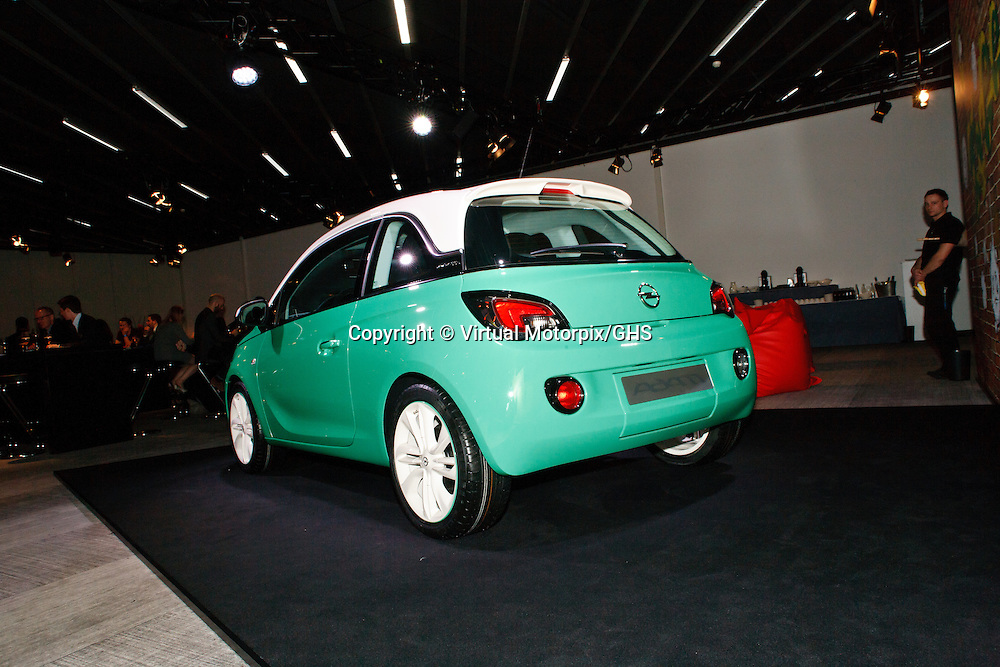 Vauxhall (Opel) Adam 1.0, at launch function in Geneva 3 March 2014