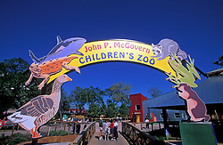 Stock photo of the entrance sign to the Children's Zoo