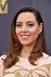 Aubrey Plaza attends the 2018 MTV Movie And TV Awards at Barker Hangar on June 16, 2018 in Santa Monica, California. Photo by Lionel Hahn/ABACAPRESS.COM