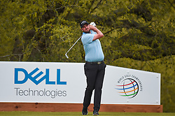March 23, 2018 - Austin, TX, U.S. - AUSTIN, TX - MARCH 23: Marc Leishman watches his tee shot during the third round of the WGC-Dell Technologies Match Play on March 23, 2018 at Austin Country Club in Austin, TX. (Photo by Daniel Dunn/Icon Sportswire) (Credit Image: © Daniel Dunn/Icon SMI via ZUMA Press)