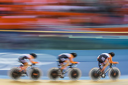 03.08.2012, Velodrome, London, GBR, Olympia 2012, Radsport, Bahn, Team Verfolgung, Damen, im Bild Judith Arndt, Becker Charlotte, Lisa Brennauer (GER) // Judith Arndt, Becker Charlotte, Lisa Brennauer (GER) during Cycling Track, Women Team Pursuit at the 2012 Summer Olympics at Velodrome, London, United Kingdom on 2012/08/03. EXPA Pictures © 2012, PhotoCredit: EXPA/ Johann Groder