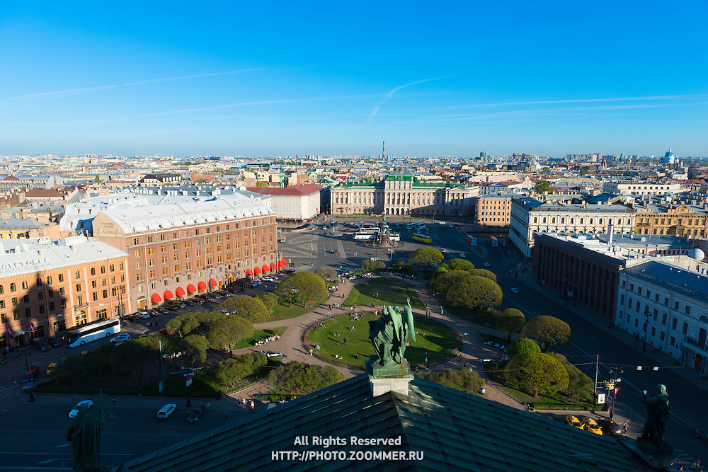 Top View Of St Petersburg St Isaak's Square