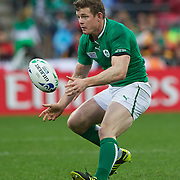 """Brian O""""Driscoll, Ireland, in action during the Ireland V Wales Quarter Final match at the IRB Rugby World Cup tournament. Wellington Regional Stadium, Wellington, New Zealand, 8th October 2011. Photo Tim Clayton..."""