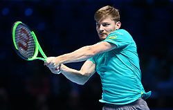November 17, 2017 - London, United Kingdom - David Goffin of Belgium ageinst Dominic Thiem of Austia.during Day six of the Nitto ATP World Tour  Finals played at The O2 Arena.  (Credit Image: © Kieran Galvin/NurPhoto via ZUMA Press)
