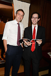 Left to right, BEN GOLDSMITH and JOSH SPERO at a party to celebrate Ben Goldsmith guest-editing the July/August 2013 edition of Spears Magazine held at 45 Park Lane, London on 19th June 2013.