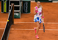 Petra Kvitova of the Czech Republic in action against Sofia Kenin of the United States during the semi-final of the Roland Garros 2020, Grand Slam tennis tournament, on October 8, 2020 at Roland Garros stadium in Paris, France - Photo Rob Prange / Spain ProSportsImages / DPPI / ProSportsImages / DPPI