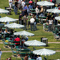 (PPAGE1) Monmouth Park 5/13/2006 Monmouth Park fans enjoying themselves in the picnic area of the park.     Michael J. Treola Staff Photographer.....MJT