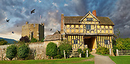 Towering Delusions - Stokesay Castle is a romatic Elizabethan half timbered manor house, the  finest example of a fortified medieval manor house in England built in the 1280s,  Shropshire, England. By Paul Williams
