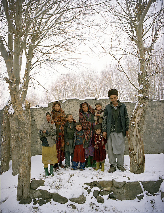 Wakhi family. .Winter expedition through the Wakhan Corridor and into the Afghan Pamir mountains, to document the life of the Afghan Kyrgyz tribe. January/February 2008. Afghanistan