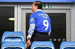 Cardiff City owner Vincent Tan in the stands before the Premier League match at the Cardiff City Stadium.