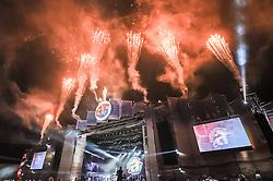Queima de fogos em comemoração a 20ª edição do Planeta Atlântida, que ocorre nos dias 29 e 30 de janeiro, na SABA, na praia de Atlântida, no Litoral Norte gaúcho.  Foto: Carlos Ferrari / Agência Preview