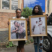 London, England, UK. 27th July 2017. Family of Khadija Saye,Mary Mendy is a victims of the Grenfell attend memorial at St Helen Church, North Kensington.