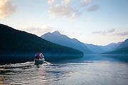 Bowman Lake, Glacier National Park. Montana.