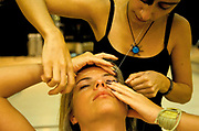 """The """"Fashion Clinic"""" beauty salon in Ipanema. At this very up market salon Rio's """"A"""" class have 'Gold' facials, hair removal, nail and other treatments as they are pampered with coffee and other drinks"""