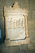 Grave stele, pedimented filial, Megiste, third to fourth century AD, Archaeological museum, Rhodes, Greece