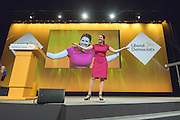 © Licensed to London News Pictures. 14/03/2015. Liverpool, UK. Jo Swinson delivers her keynote speech.  The Liberal Democrat Spring Conference in Liverpool 14th March 2015. Photo credit : Stephen Simpson/LNP