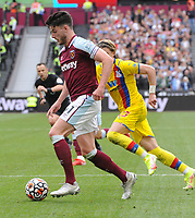 Football - 2021 / 2022 Premier League - West Ham United vs Crystal Palace - London Stadium - Saturday 28th August 2021<br /> <br /> Declan Rice  of West Ham<br /> <br /> Credit : COLORSPORT/Andrew Cowie