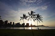 Sunrise over Waikiki