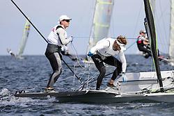 , Kiel - Kieler Woche 17. - 25.06.2017, 49er - USA 28 - Judge RYAN - Hans HENKEN - San Diego Yacht Club