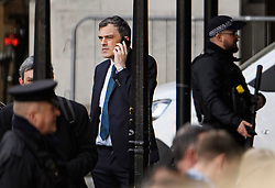 © Licensed to London News Pictures. 10/04/2019. London, UK. Chief Whip JULIAN SMITH is seen arriving at Parliament in Westminster. British Prime Minister THERESA MAY will travel to an EU summit later today where she hopes to negotiate an extension to the date the UK will leave the EU. Photo credit: Ben Cawthra/LNP