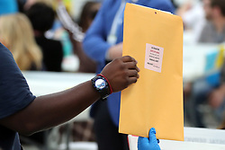 Hand counting in the Senate race begins at the Broward County Supervisor of Elections office in Lauderhill on Friday, November 16, 2018. Photo by Amy Beth Bennett/South Florida Sun Sentinel/TNS/ABACAPRESS.COM